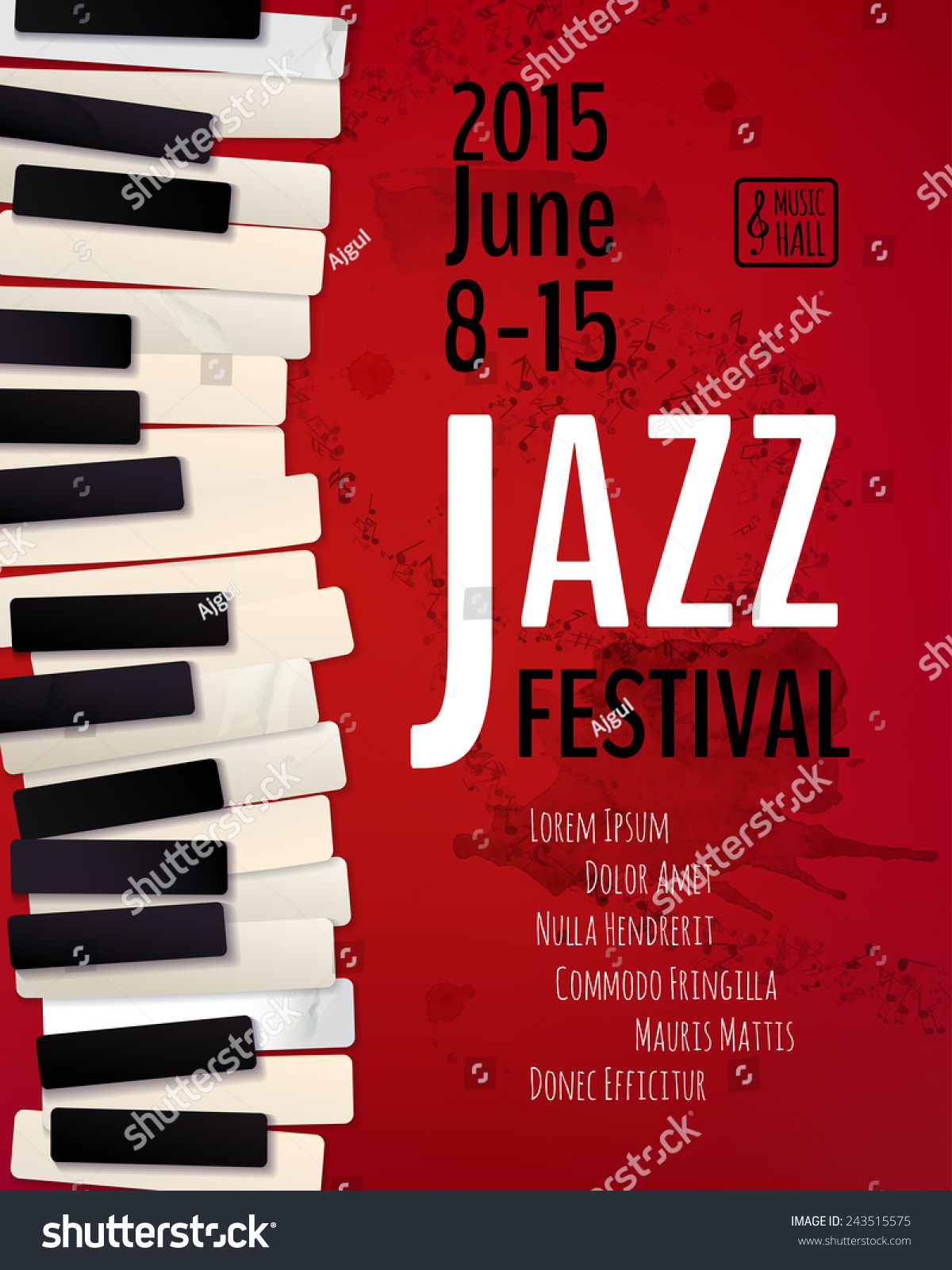 Jazz Music Festival Poster Background Template Stock ...