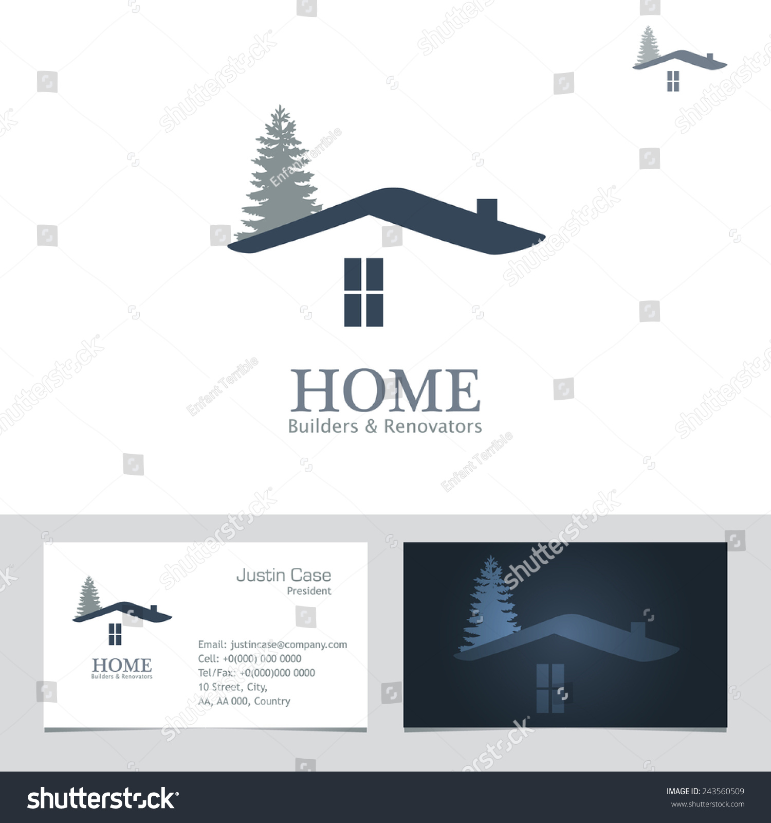 Real estate business sign business card stock vector 243560509 real estate business sign business card vector template for architecture bureau home insurance magicingreecefo Image collections