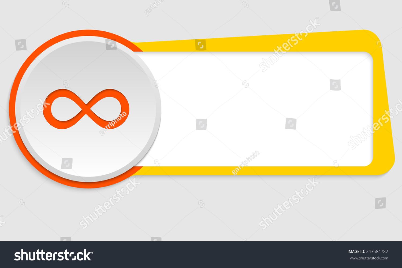 Yellow frame text infinity symbol stock vector 243584782 yellow frame for text and infinity symbol biocorpaavc