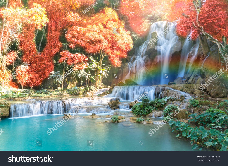 beautiful soft waterfall in - photo #23