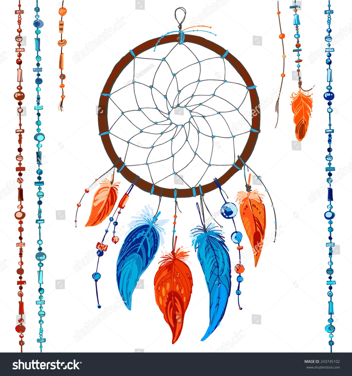 dreamcatcher feathers and beads native american indian dream catcher traditional symbol color