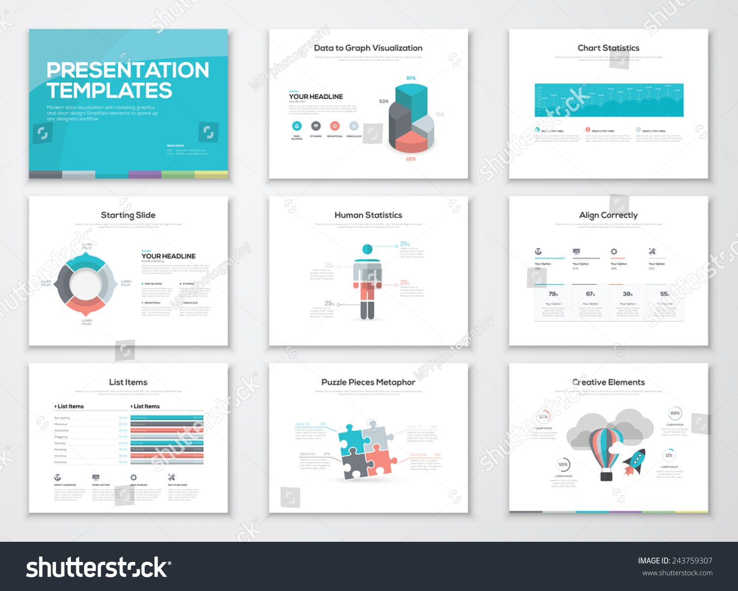 Creative infographic presentation templates business for Creative powerpoint templates free