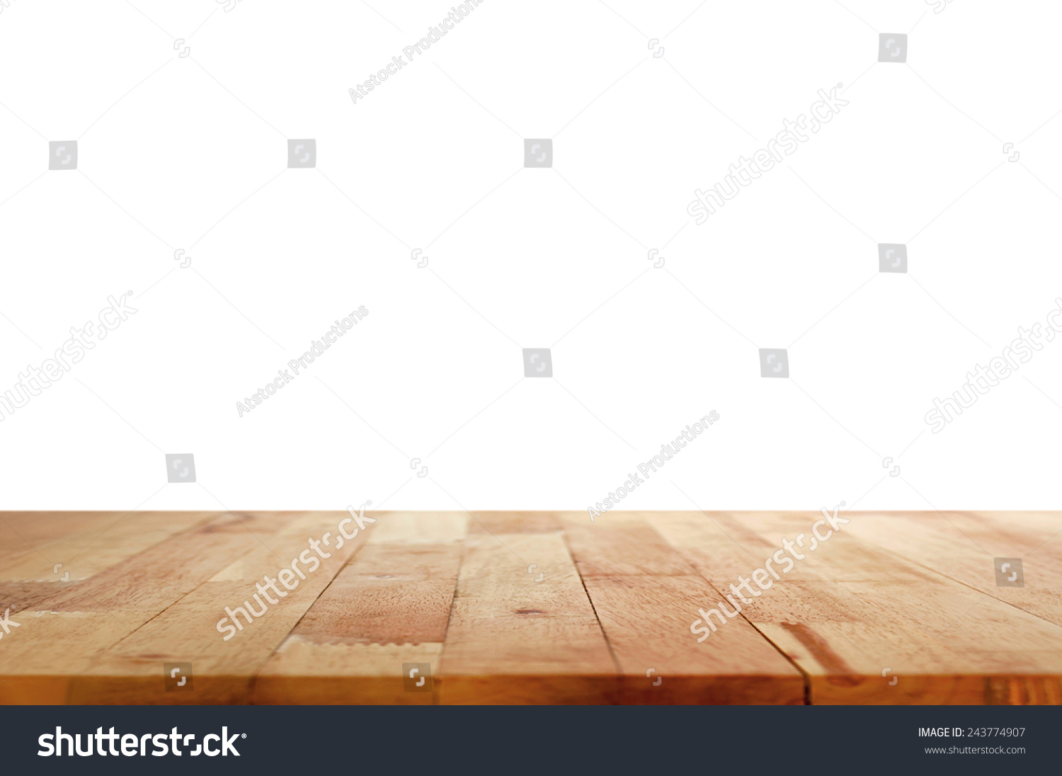 Wood table top on white background stock photo 243774907 for Table background
