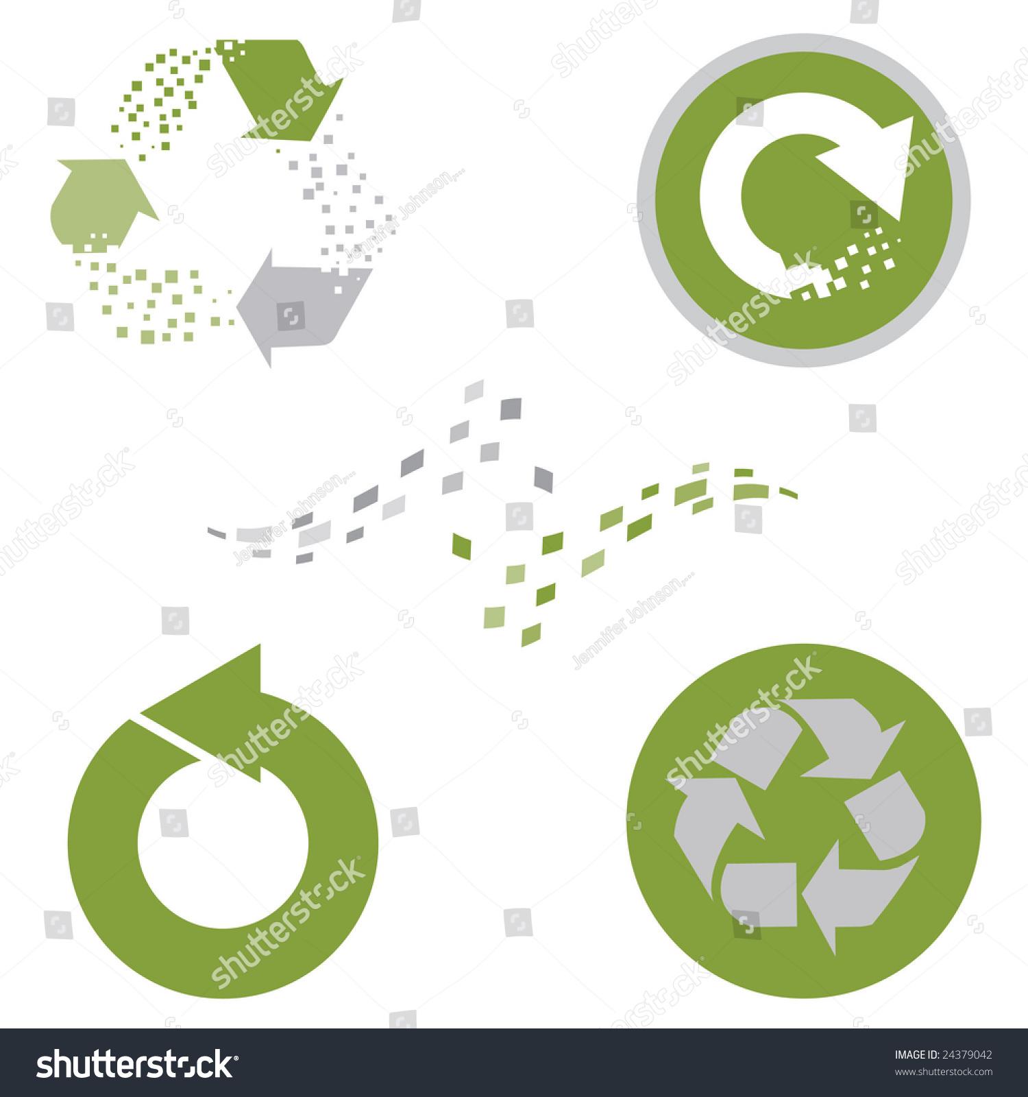 Set recycling symbols data electronic elements stock illustration set of recycling symbols with data electronic elements biocorpaavc