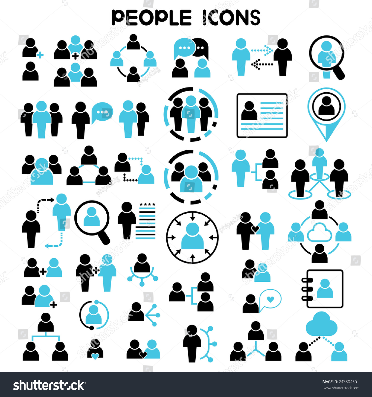 people icons vector set people network stock vector  people icons vector set people network icons human resources and management icons