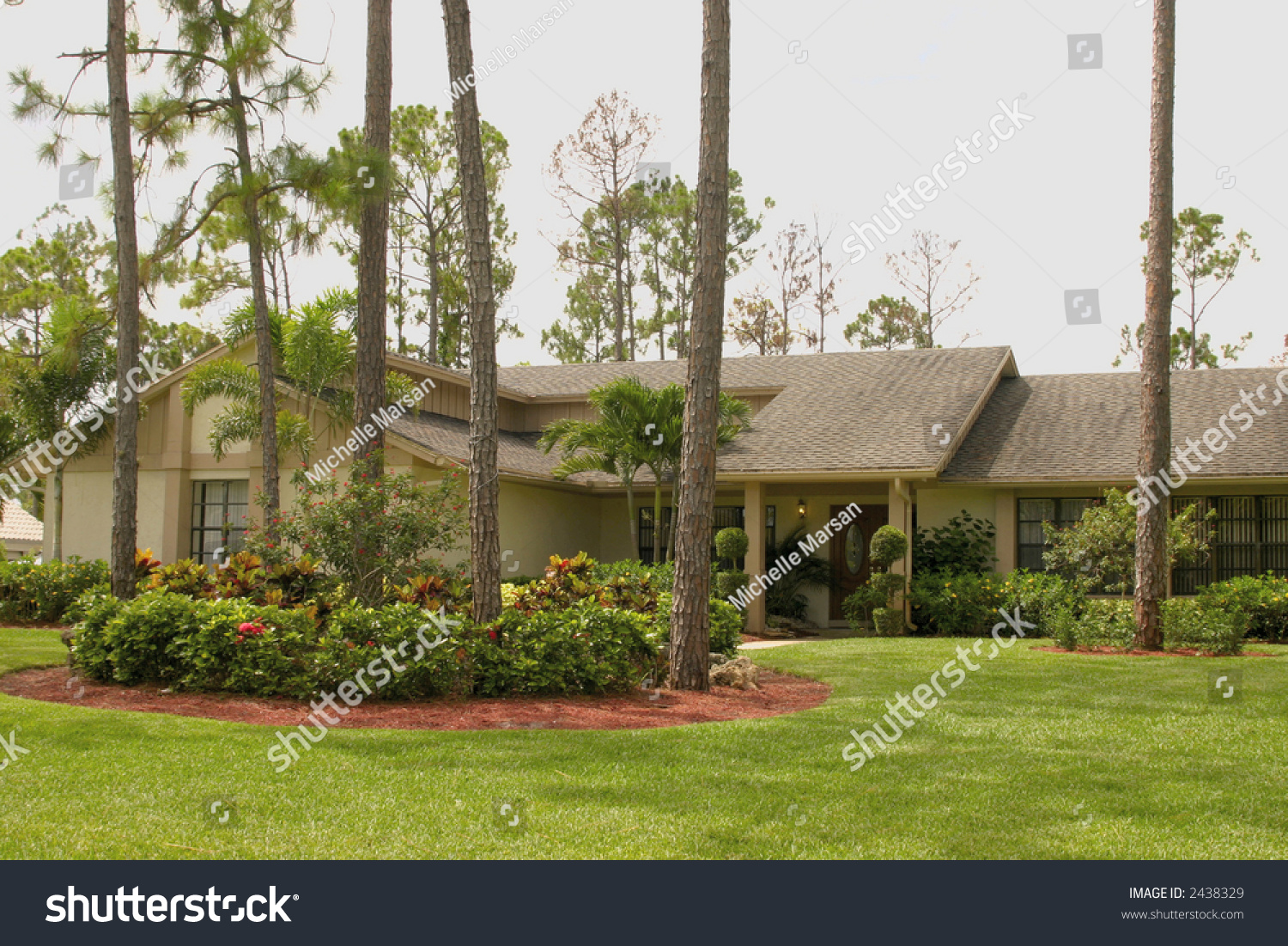 Southern ranch home stock photo 2438329 shutterstock for Southern home and ranch