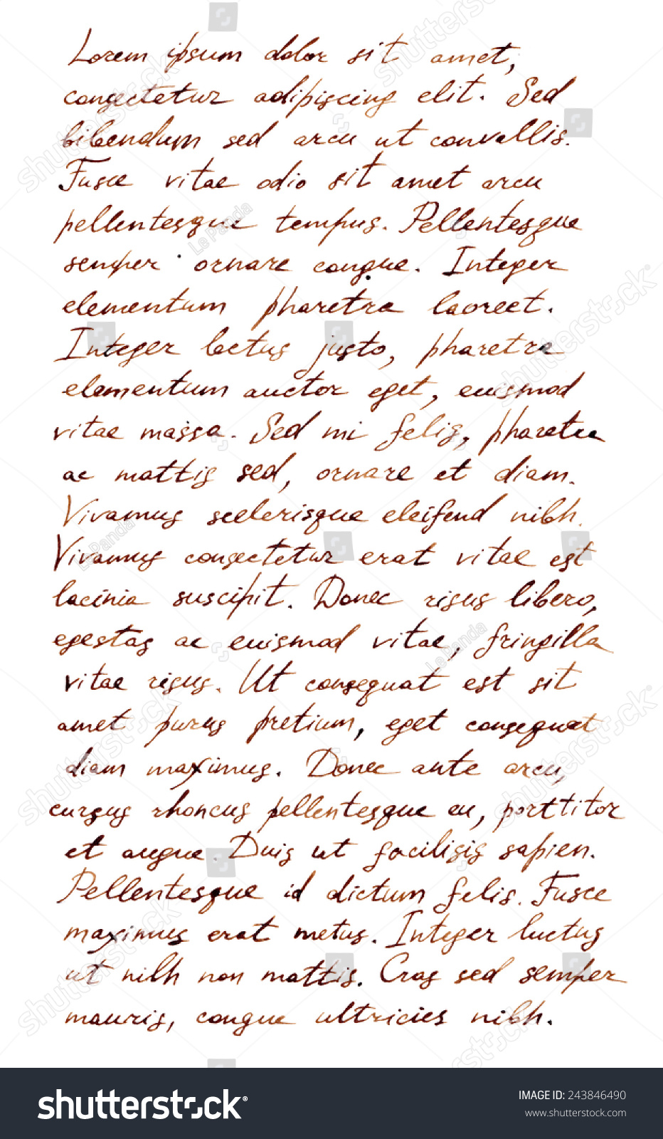Royalty Free Stock Illustration of Hand Written Letter Latin Text