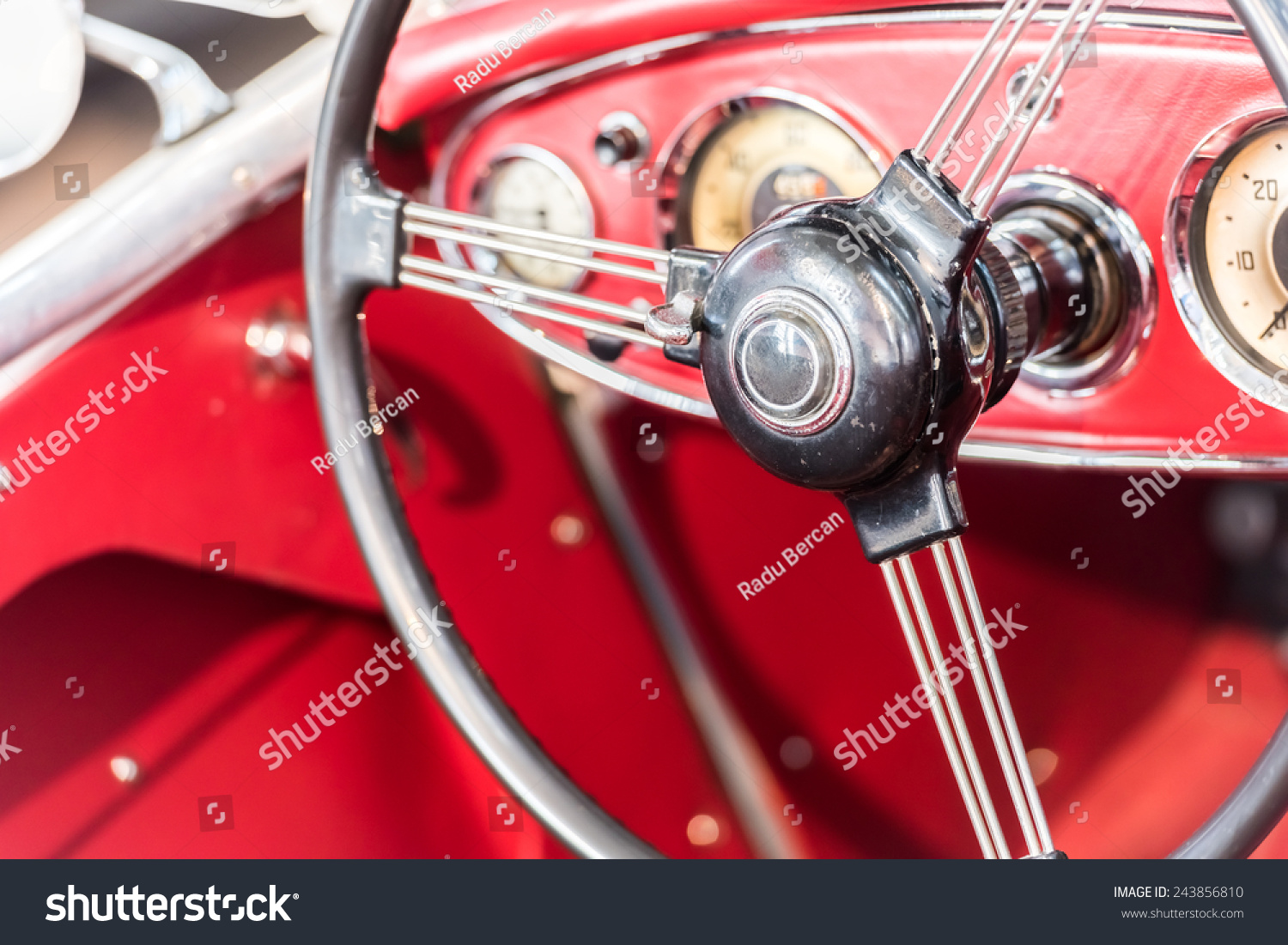 vintage car interior stock photo 243856810 shutterstock. Black Bedroom Furniture Sets. Home Design Ideas