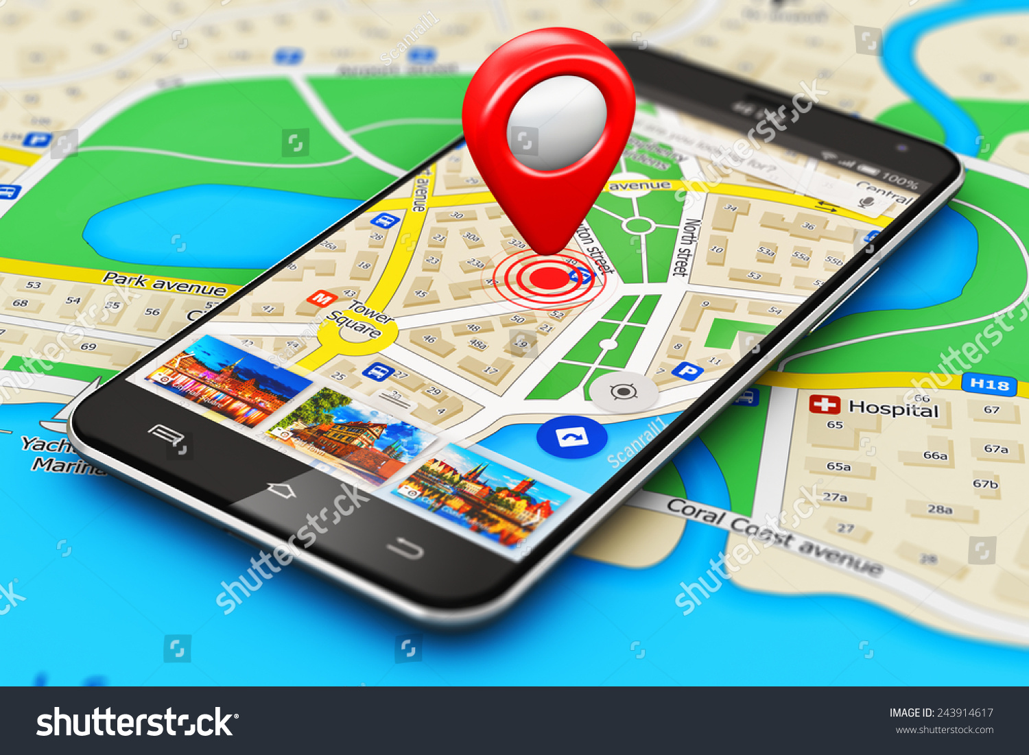 gps satellite navigation travel tourism location stock illustration 243914617 shutterstock. Black Bedroom Furniture Sets. Home Design Ideas