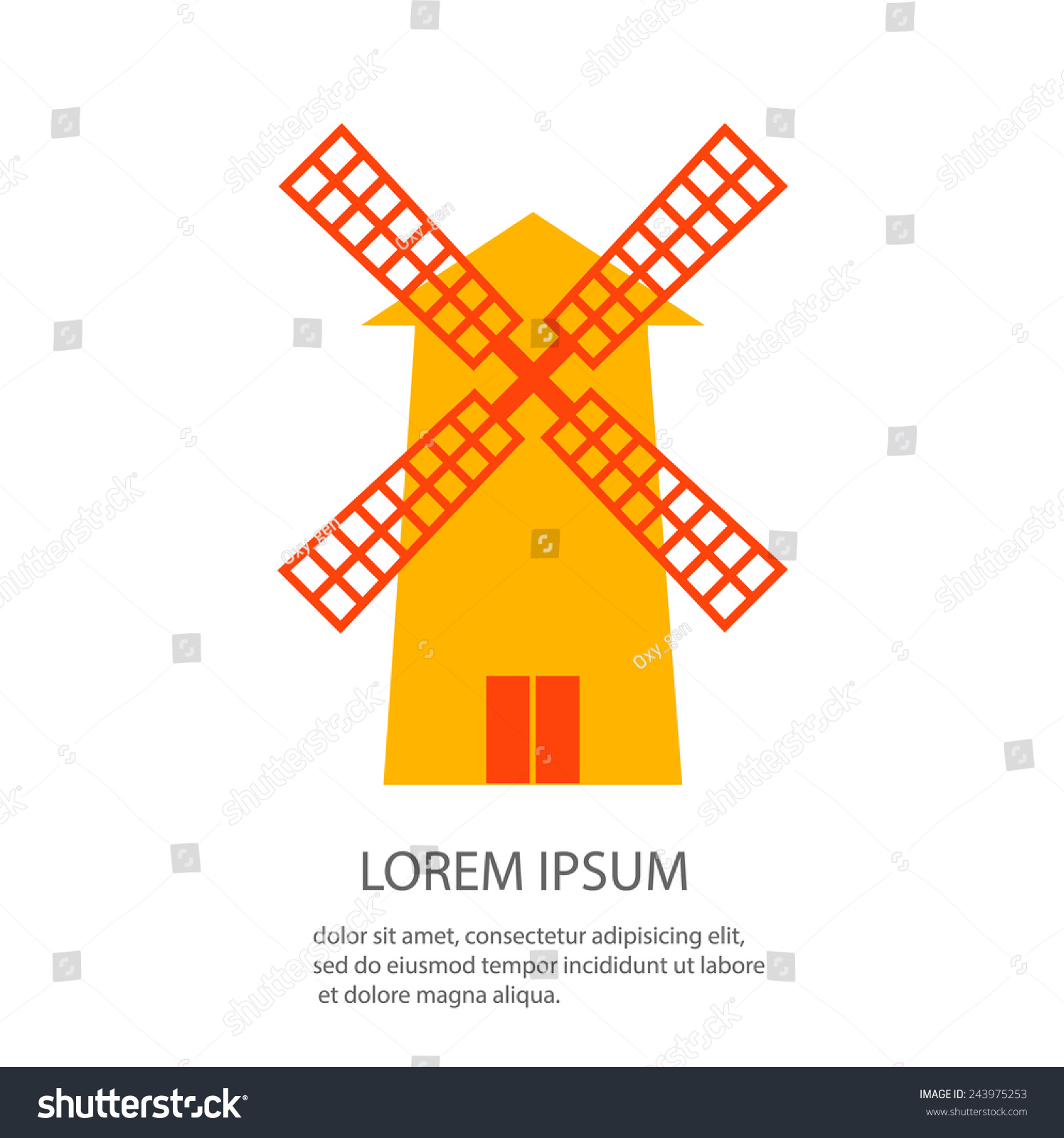 Wind mill symbol vector illustration stock vector 2018 243975253 wind mill symbol vector illustration publicscrutiny Image collections