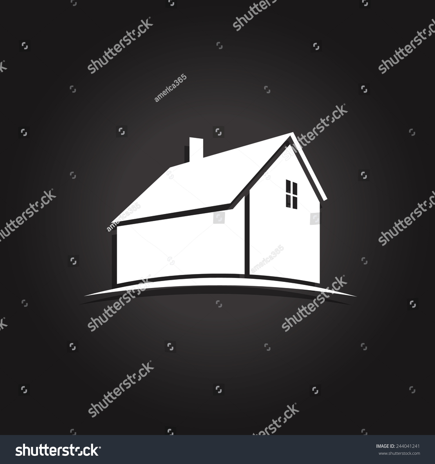 Simple House Icon. Vector Icon - 244041241 : Shutterstock