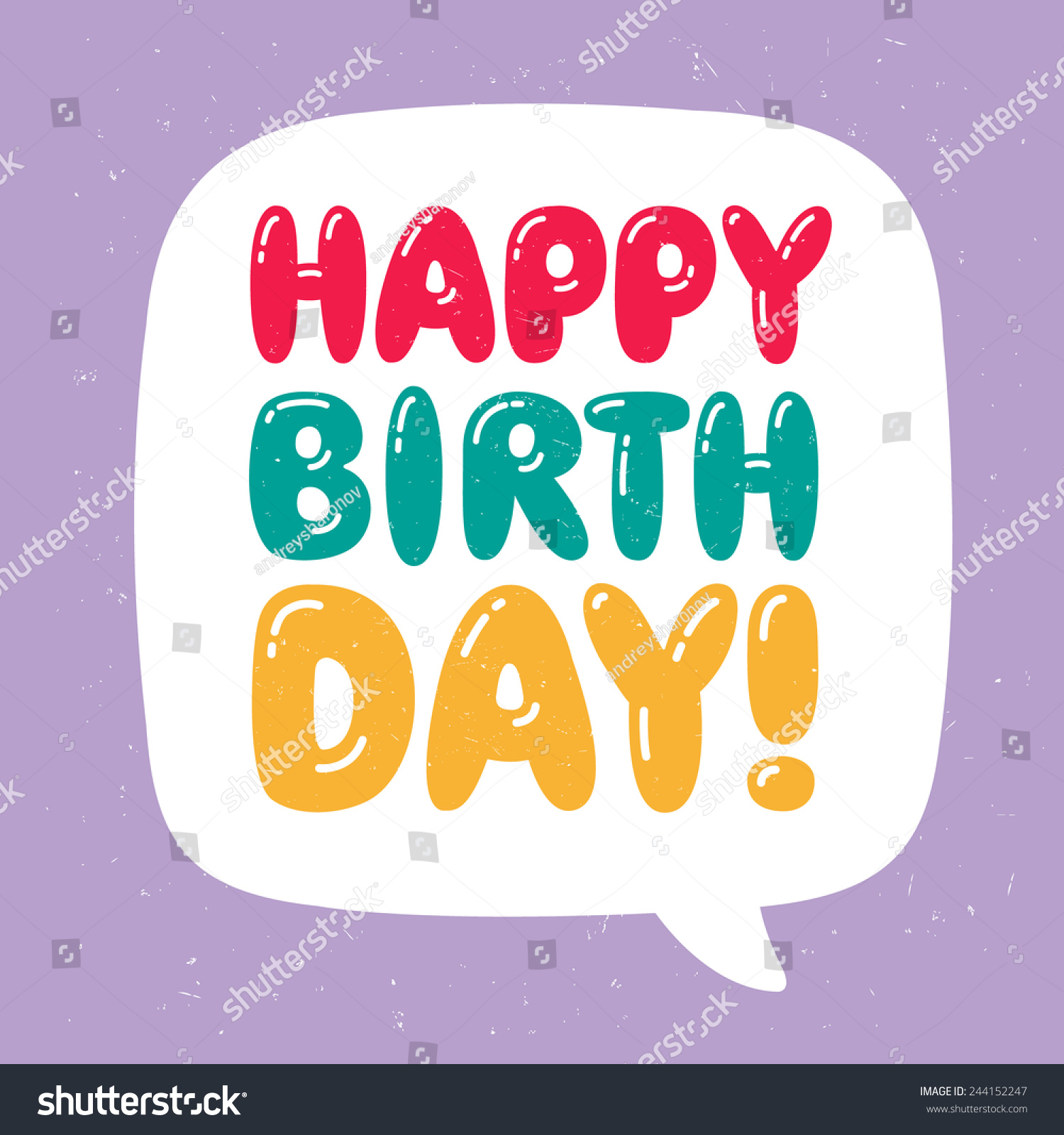 Happy birthday greeting card stock vector 244152247 shutterstock happy birthday greeting card kristyandbryce Images