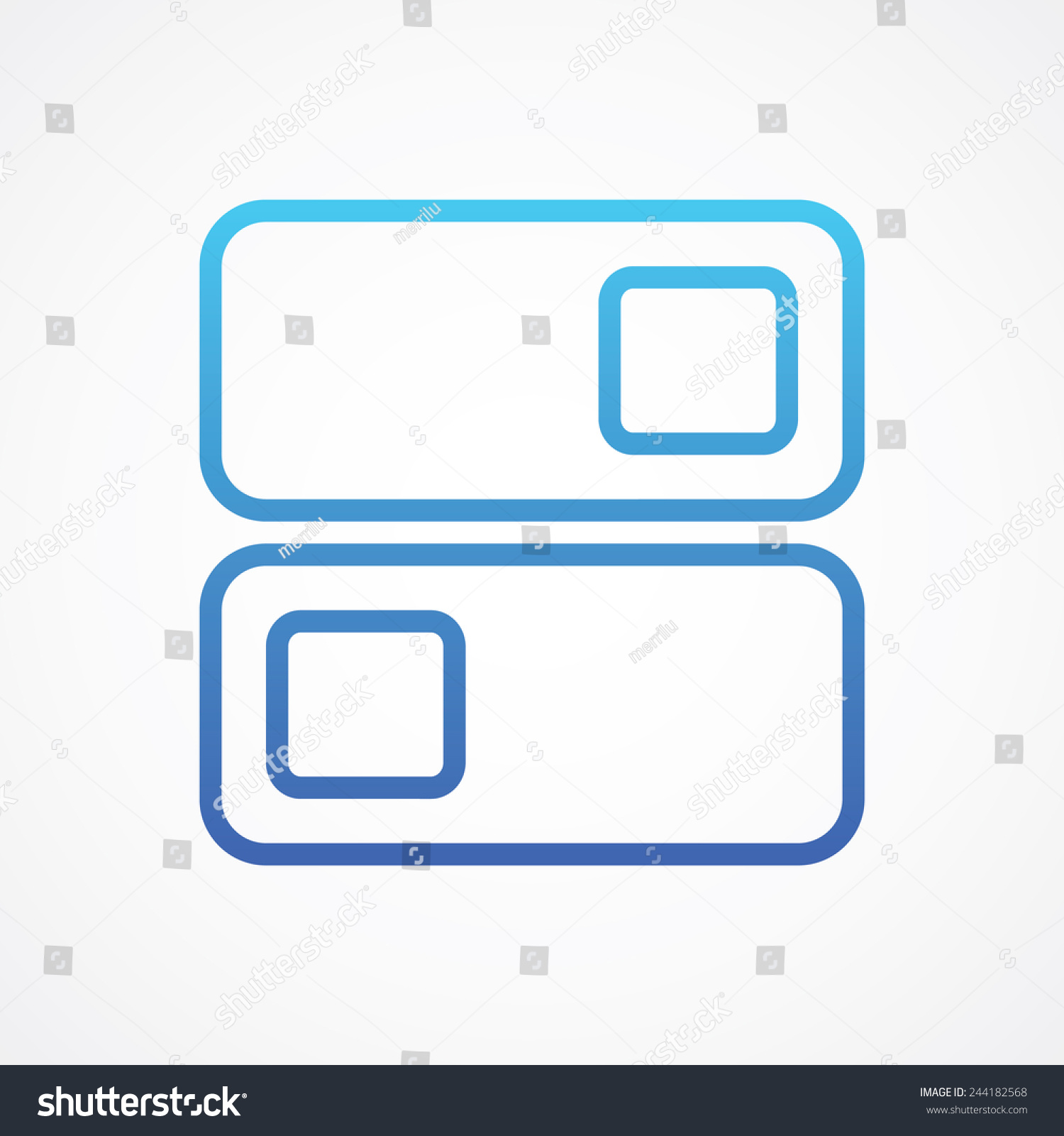 On Off Position Switch Icon Line Stock Vector Royalty Free
