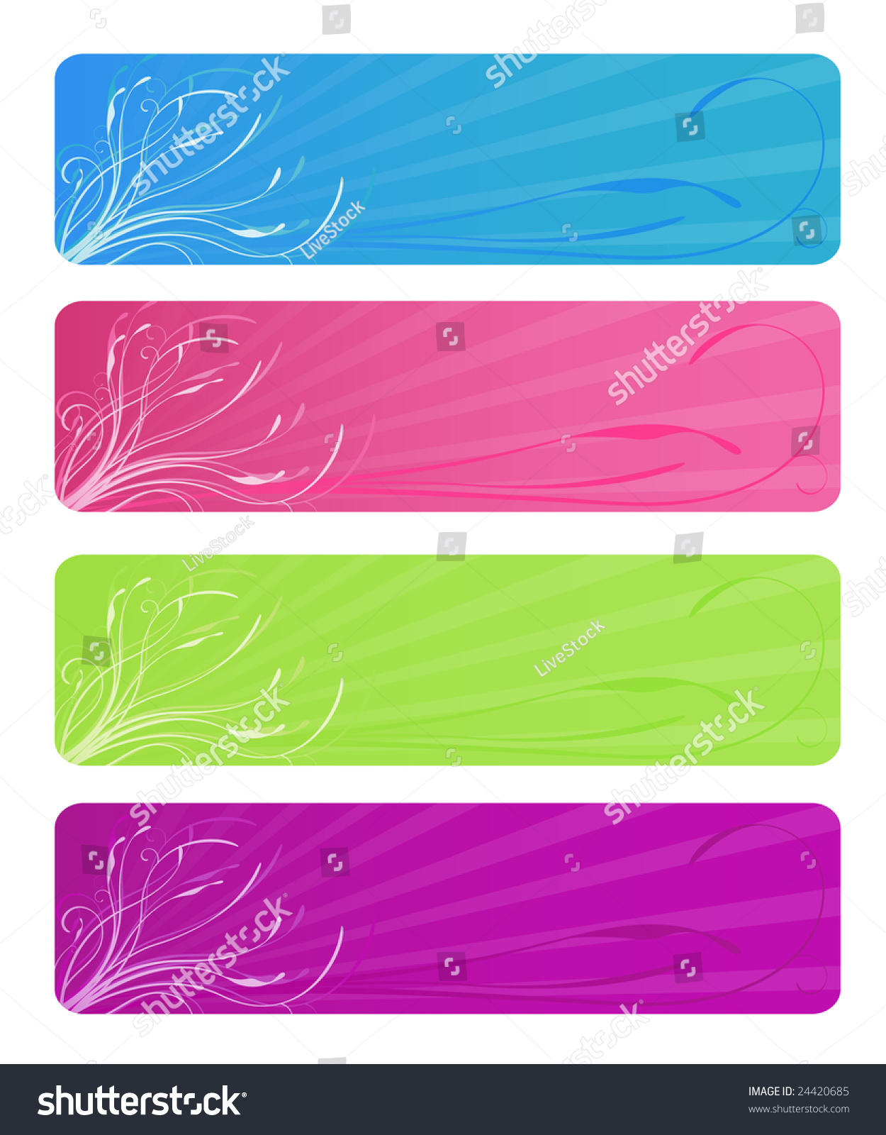 Web colors lime - Image Version Of Four Floral Web Banners In Bright Colors Aqua Hot Pink