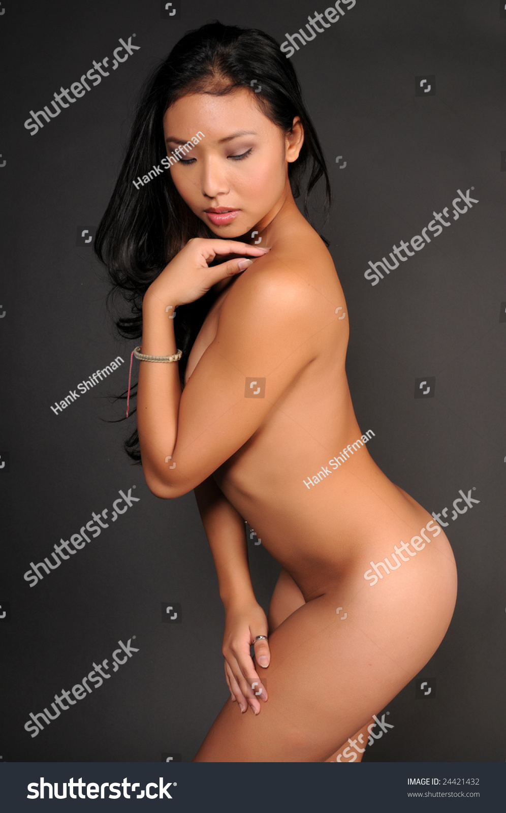 Beautiful Young Thai Woman Poses Nude Stock Photo 24421432 ...