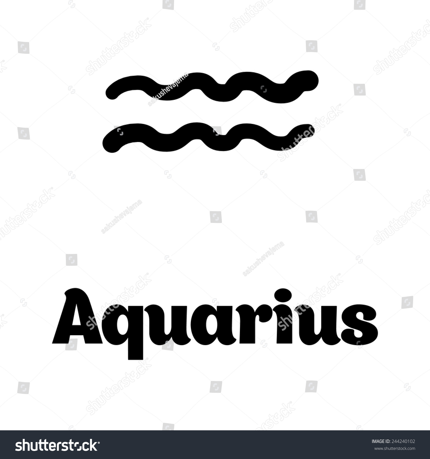 Zodiac symbol aquarius set stock vector 244240102 shutterstock zodiac symbol aquarius from set biocorpaavc Image collections