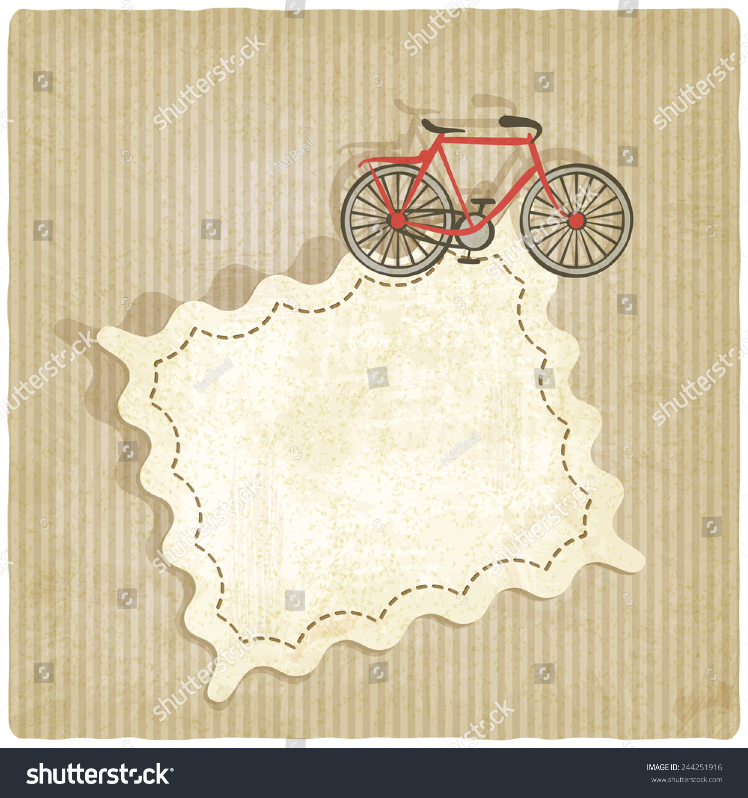 retro background with bicycle vector illustration eps 10