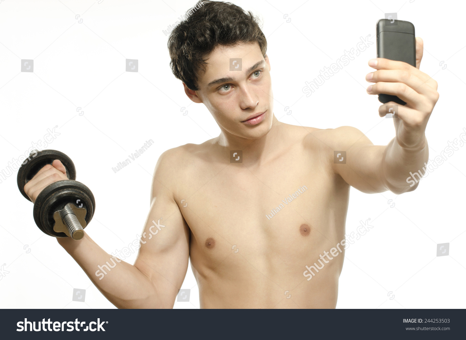 Skinny guy takes 200kg weight and punishment 7