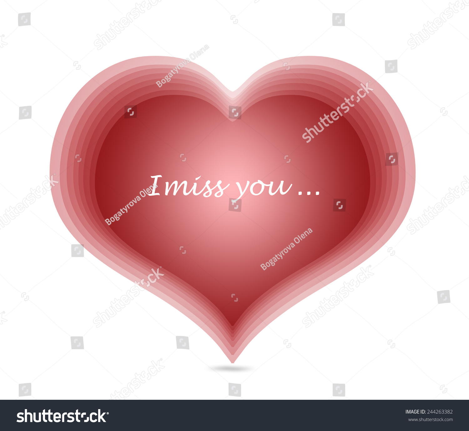 Red harts miss you message symbol stock illustration 244263382 red harts miss you message symbol love card biocorpaavc