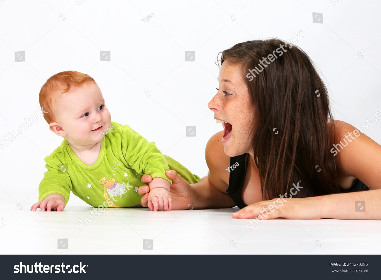 Babysitter Playing Baby Stock Photo 244270285 - Shutterstock