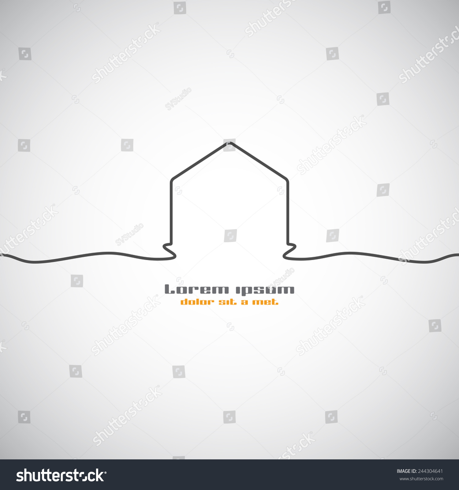 Abstract building silhouette real estate house logo design template icon modern graphics concept element