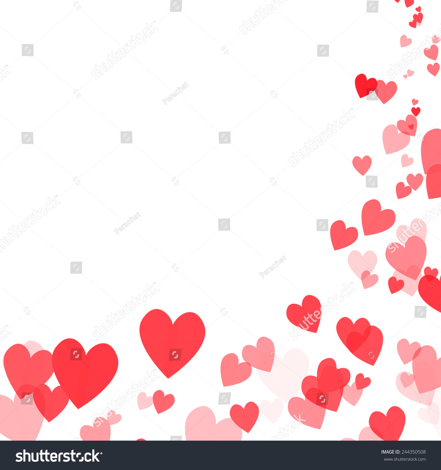valentines day design hearts background stock illustration