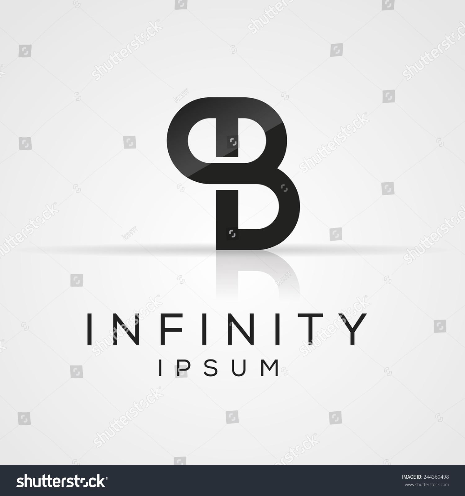 elegant minimal letter symbol alphabet p and b logo. Black Bedroom Furniture Sets. Home Design Ideas