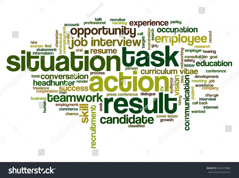 Word Cloud Related Behavioral Job Interview Vector de stock (libre ...