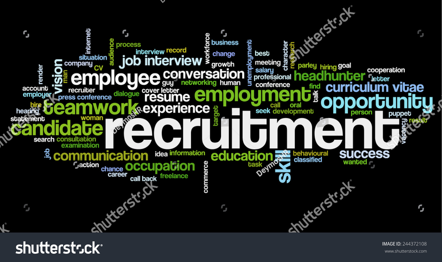 word cloud related job interview employment stock vector 244372108 word cloud related to job interview employment and recruitment