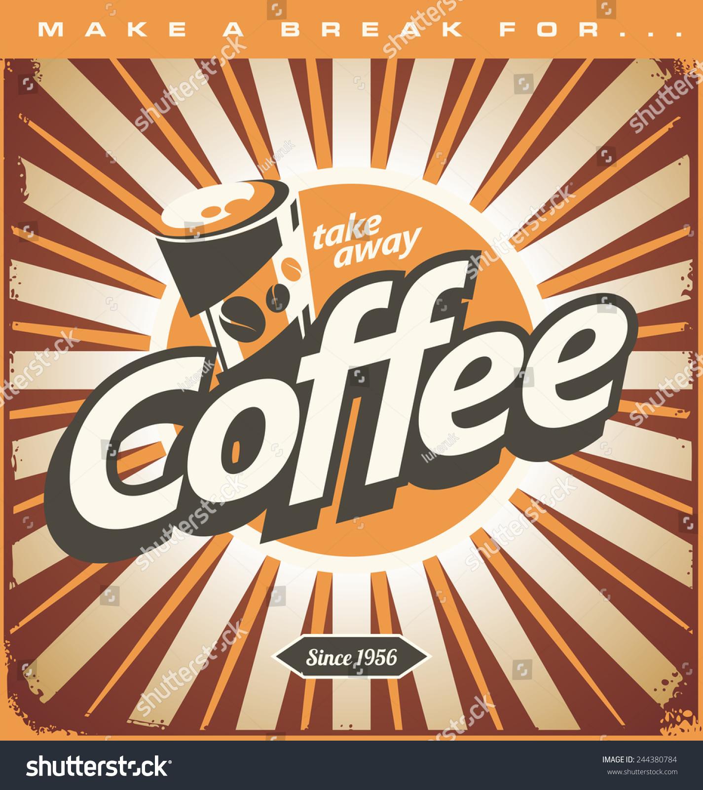 Make a poster design - Printable Design Poster Making Background Retro Coffee Shop Design Concept On Old Metal Background