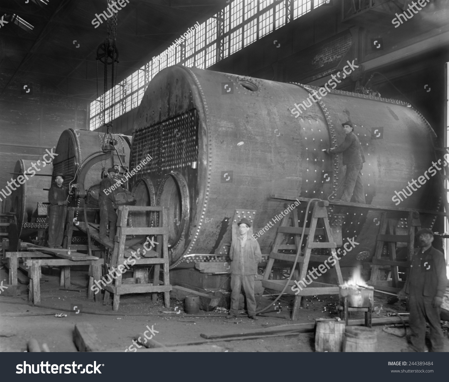 Steam Ship Boilers Under Construction Wyandotte Stock Photo (Royalty ...