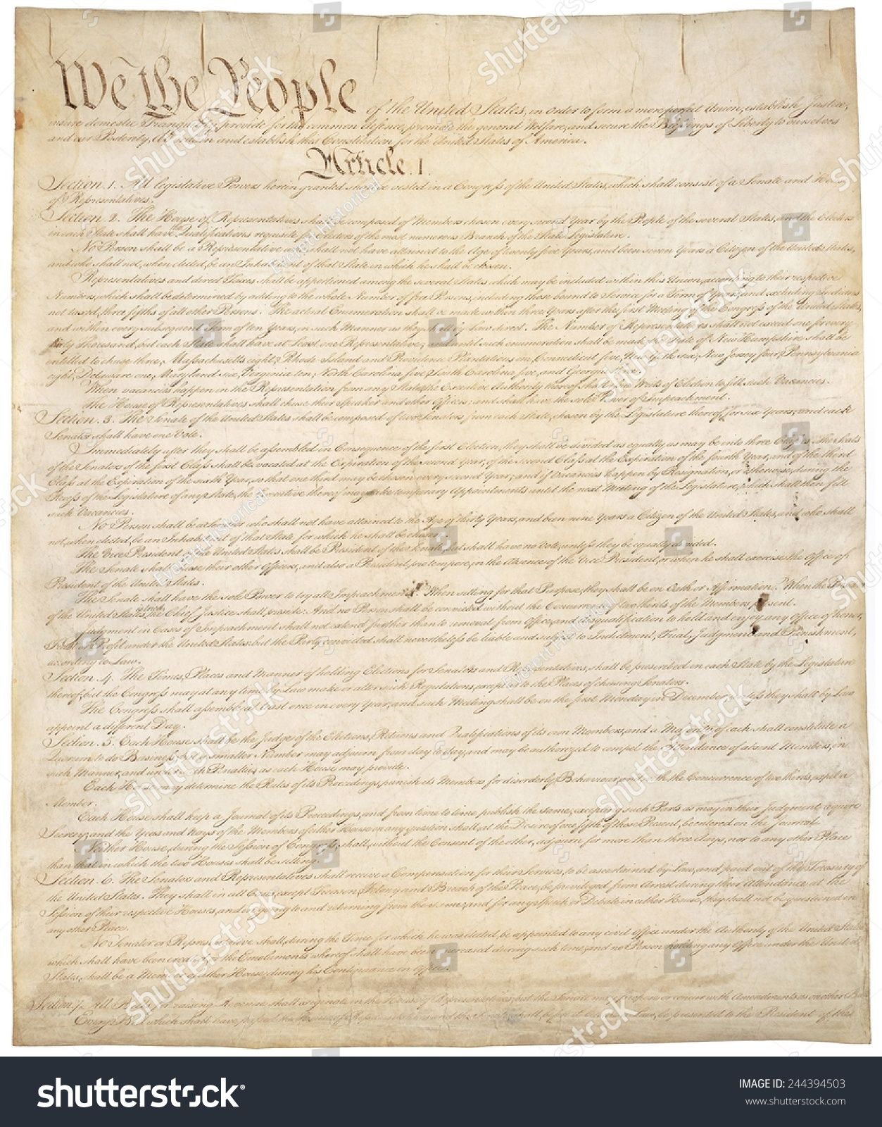 the creation of the constitution of the united states The constitution of the united states of america 2 preamble we the  people of the united states, in order to form a more perfect union,.