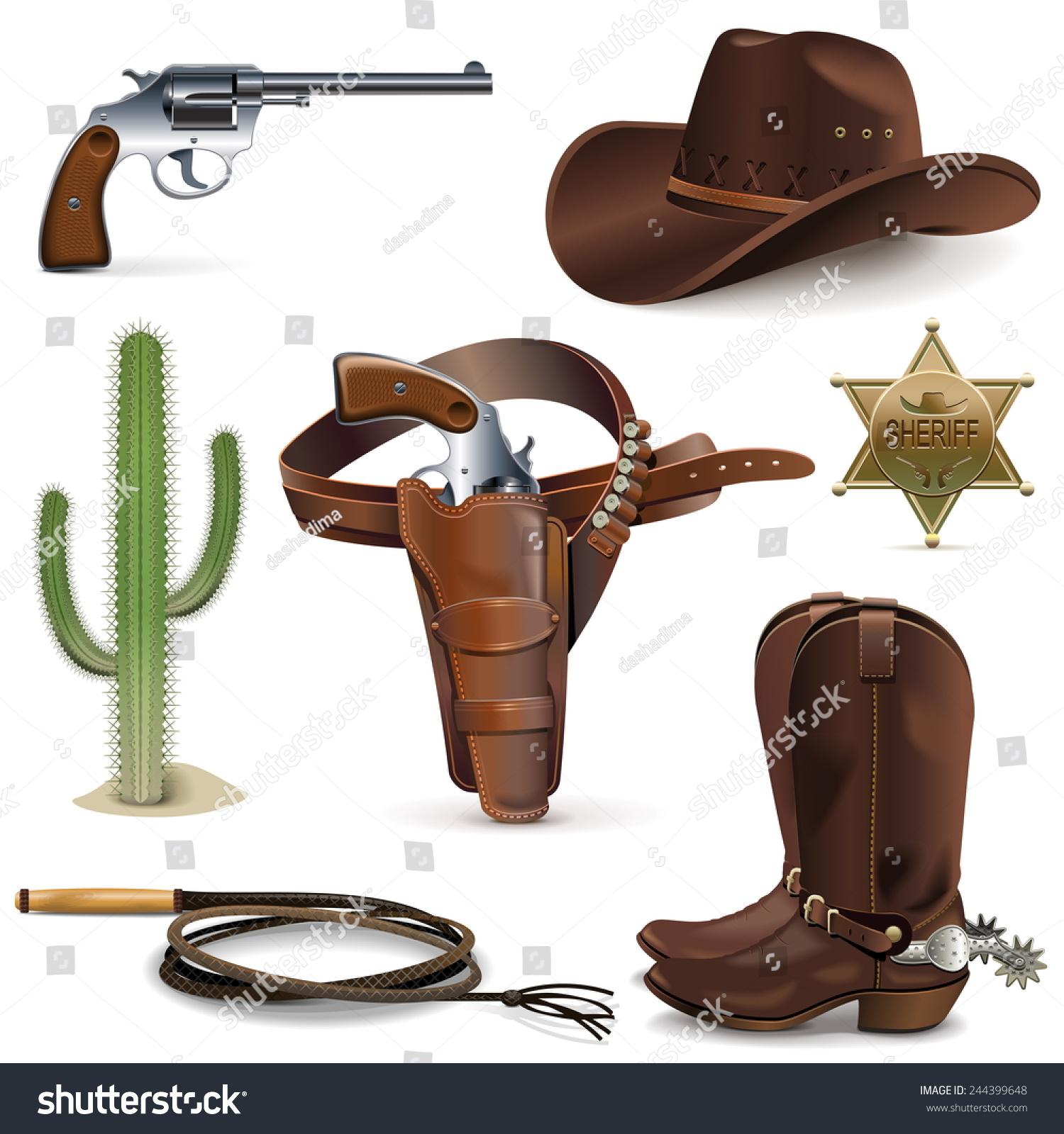 Vector Cowboy Icons Stock-Vektorgrafik 244399648 – Shutterstock
