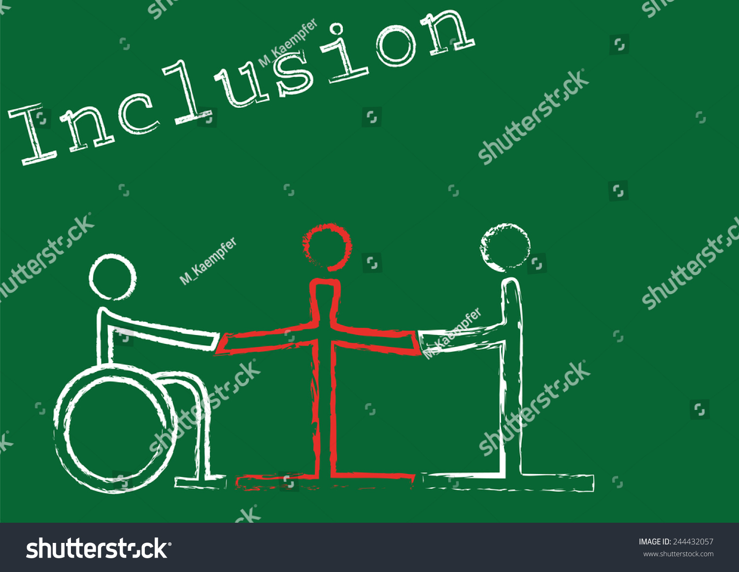 Word Inclusion Symbols Three People Different Stock Vector Royalty