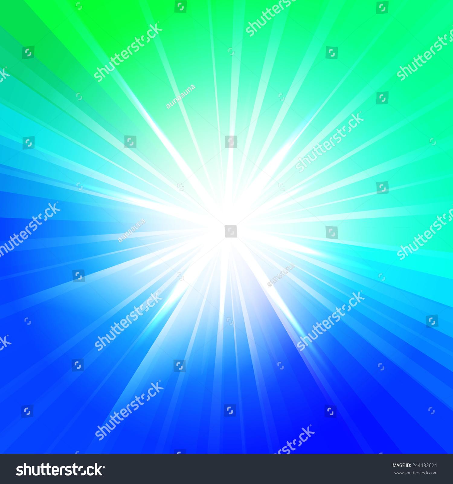 Green Desktop Wallpaper: Abstract Star Blue Green Colors Vector Stock Vector