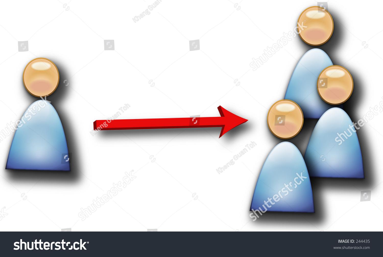 People One Many Multiplying Stock Illustration 244435 Shutterstock