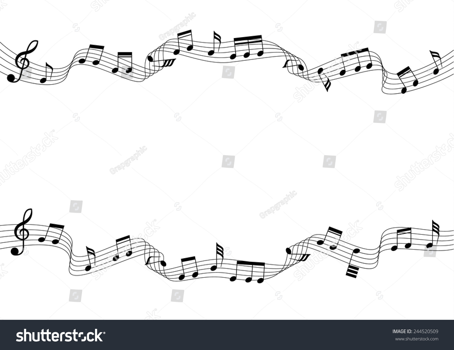 Two musical chords flow wave style stock vector 244520509 two musical chords in flow wave style a vector illustration hexwebz Image collections