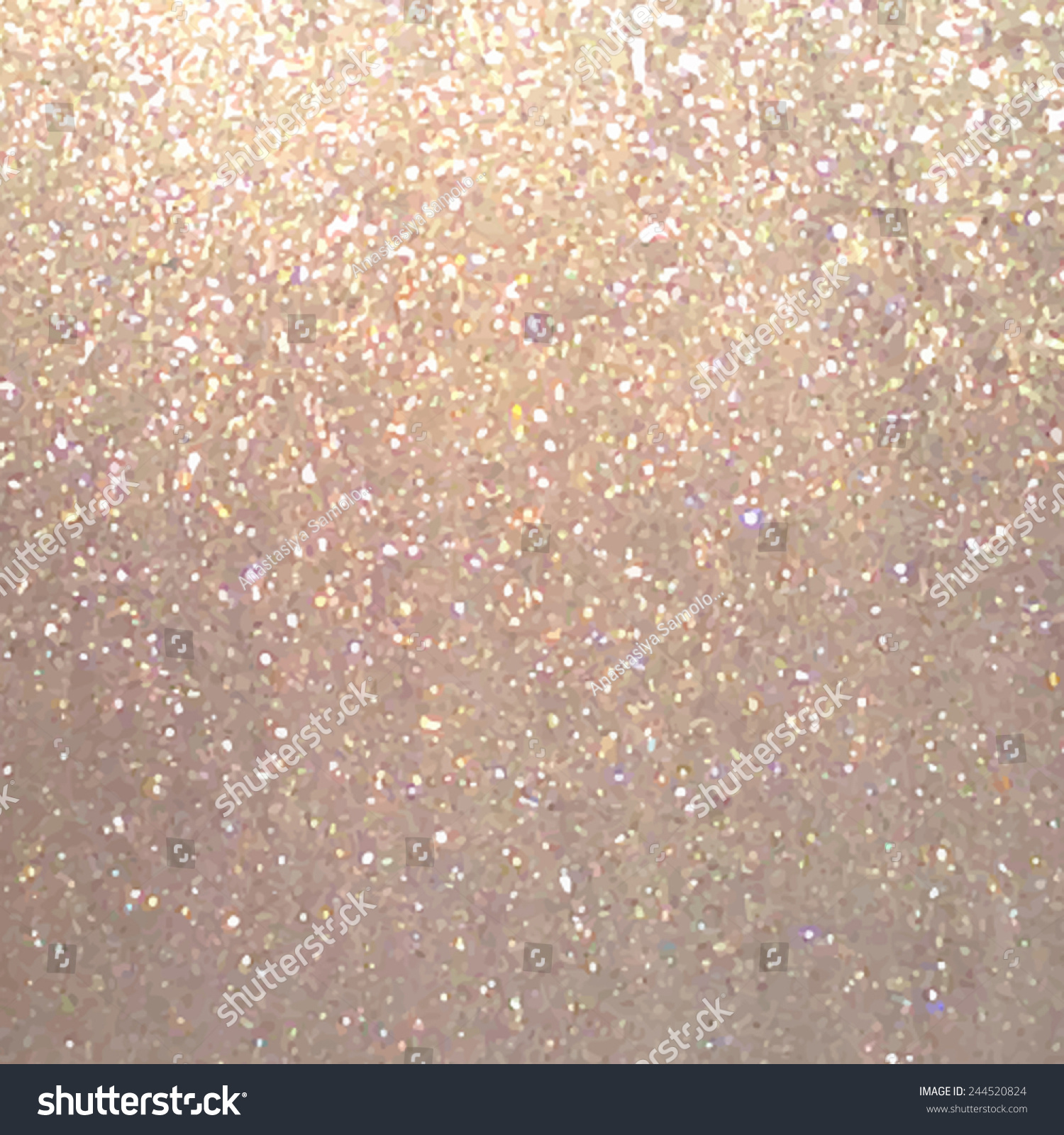 Glitter Metallic Background Metal Bronze Texture Wallpaper Design Card With SparklesTraced Vector