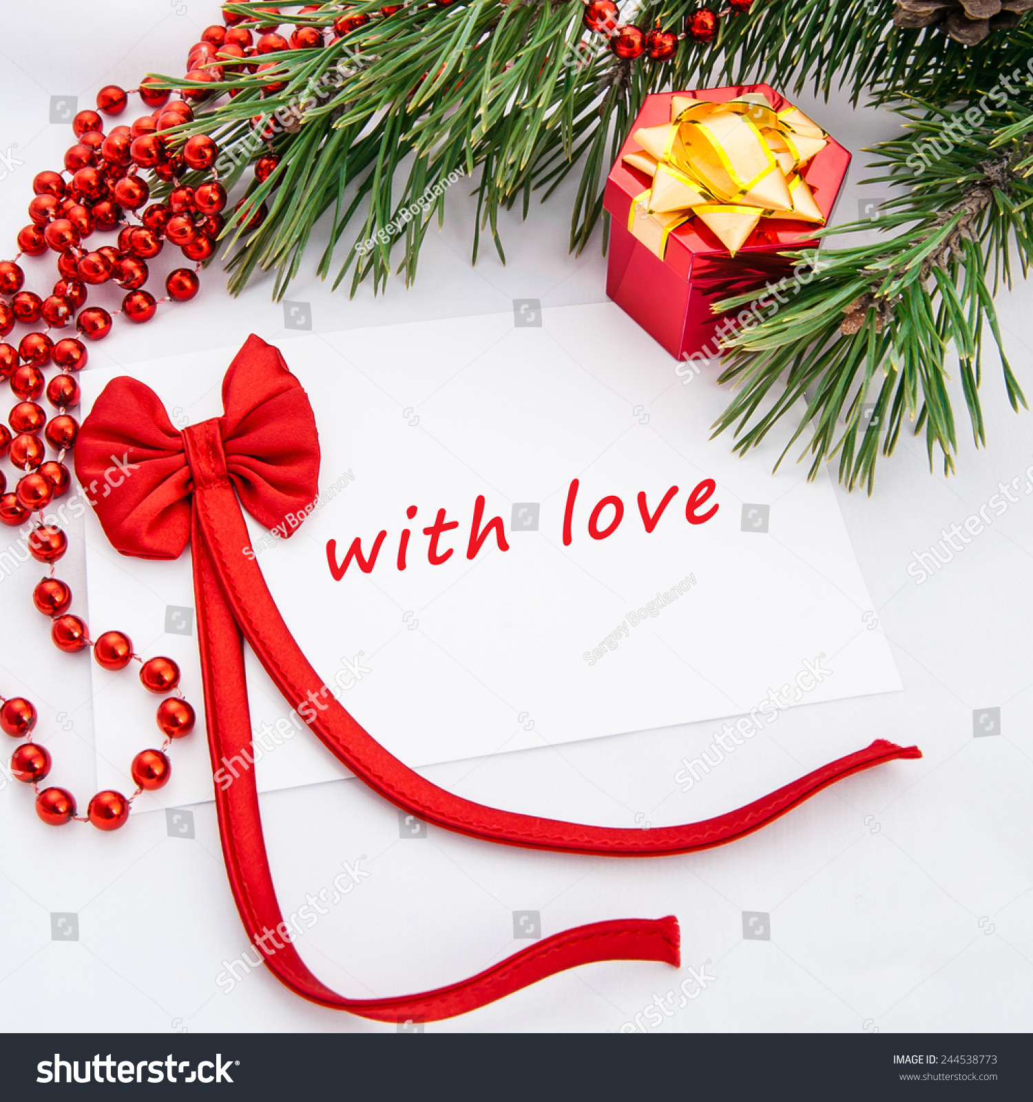 With Love Message Greeting Card Bright Stock Photo (Edit Now ...