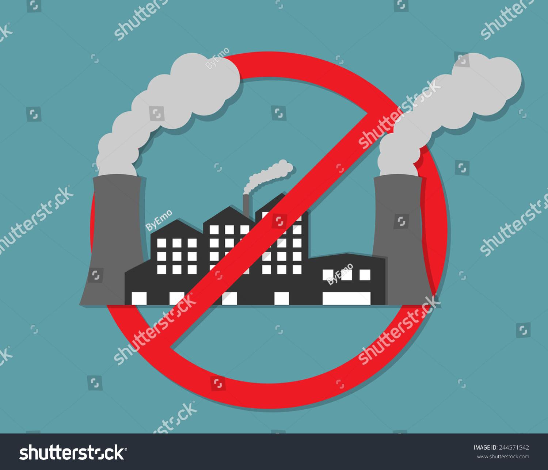 anti pollution concept stock vector 244571542 shutterstock. Black Bedroom Furniture Sets. Home Design Ideas