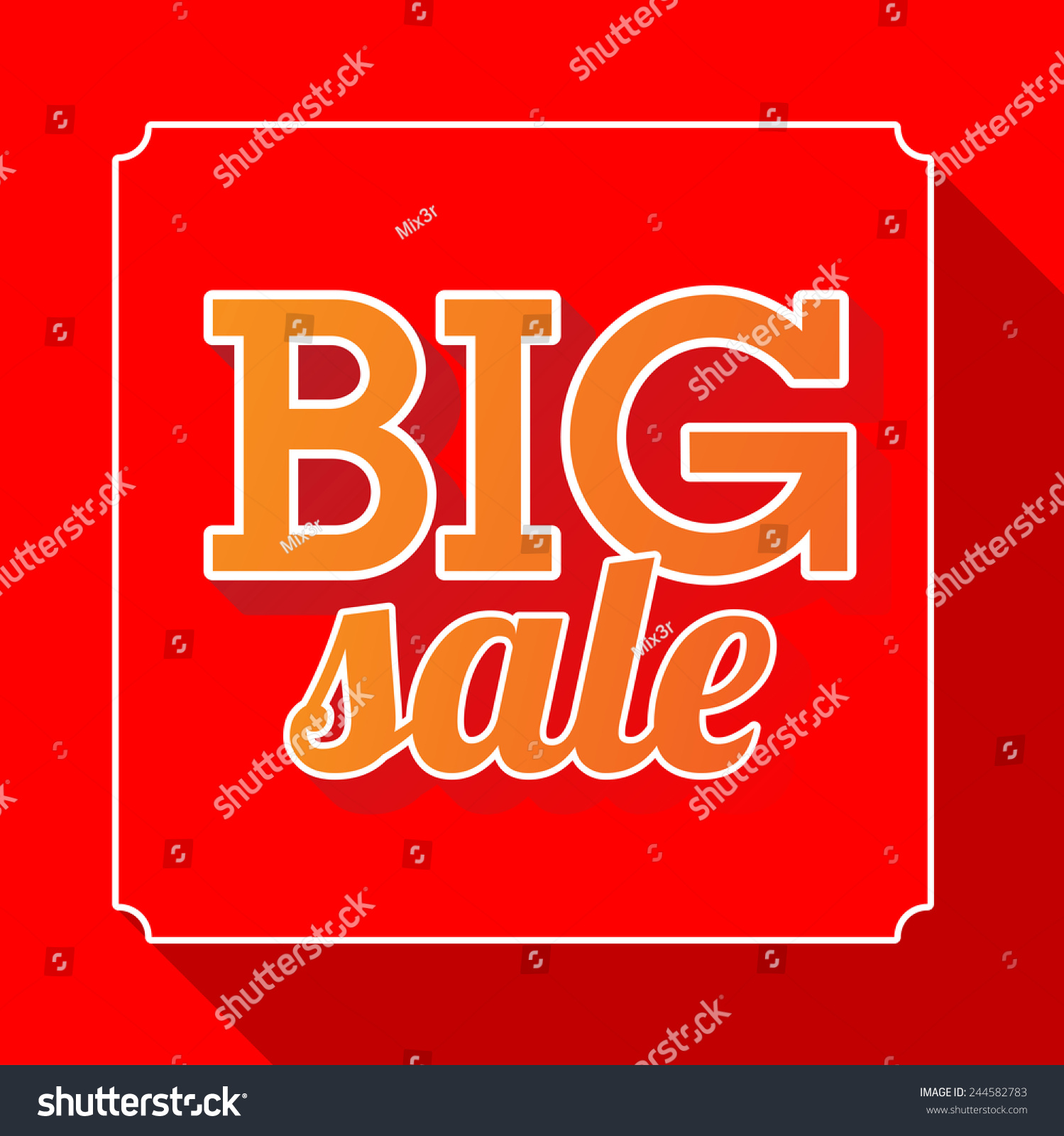 Price for a poster design - Big Sale Red Poster With Price Tag Vector Illustration