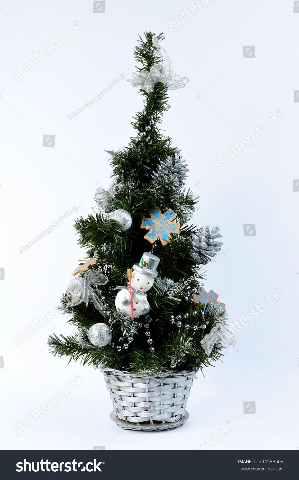 Christmas Tree Decorations Nativity Christian Catholic Stock Photo Edit Now 244588609