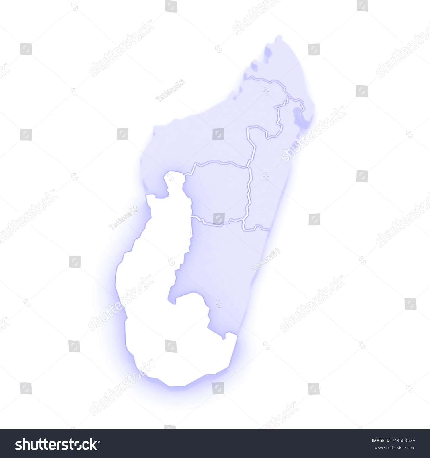 Map Toliara Madagascar 3 D Stock Illustration 244603528 - Shutterstock