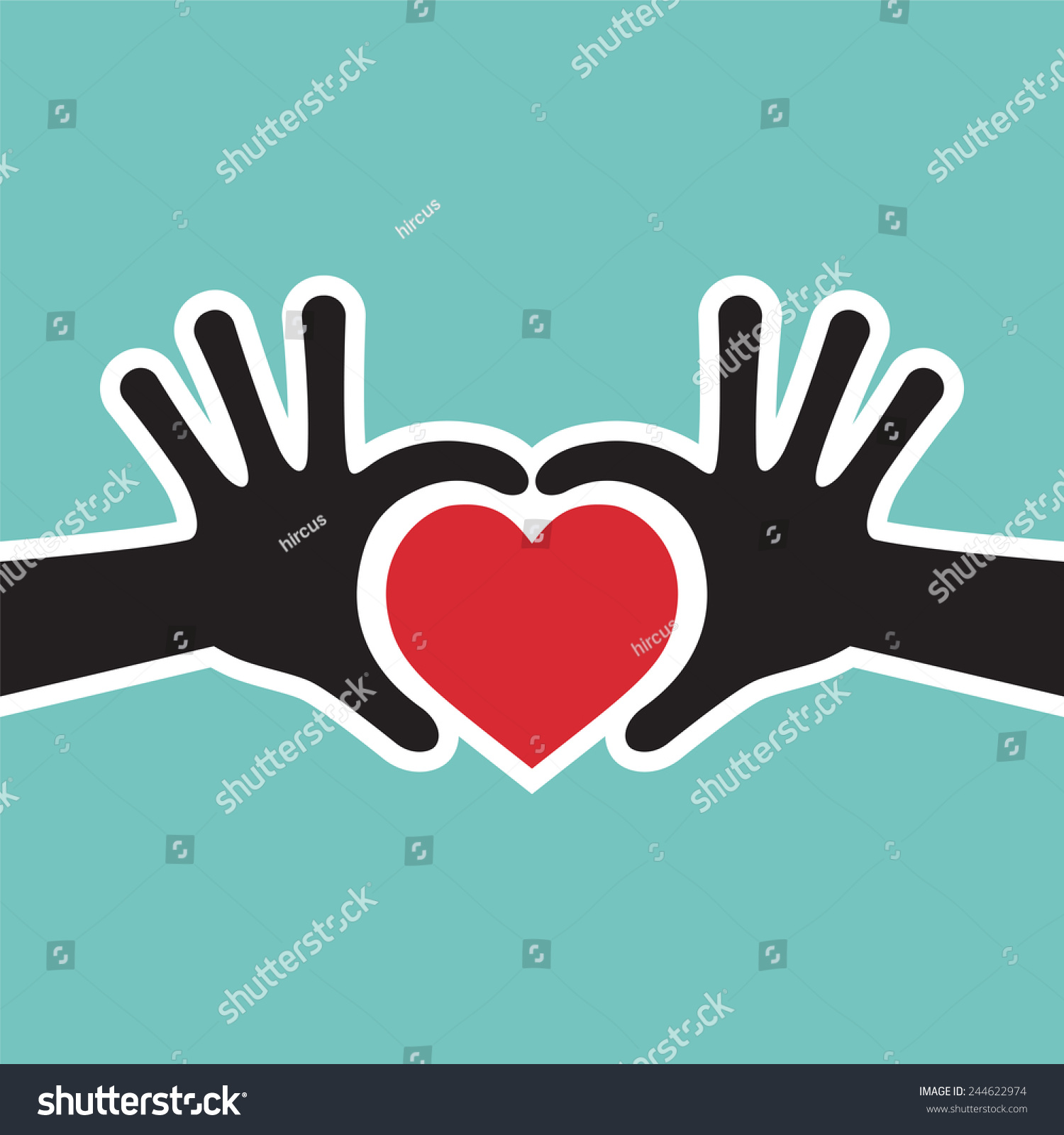 Hand Showing Love Heart Symbol Vector - Valentine Heart ...