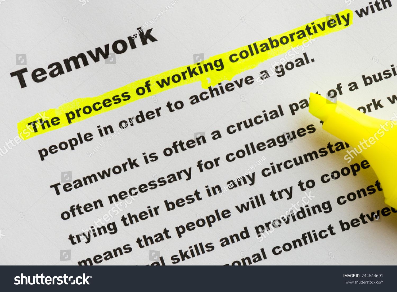 definition teamwork stock photo (edit now) 244644691 - shutterstock