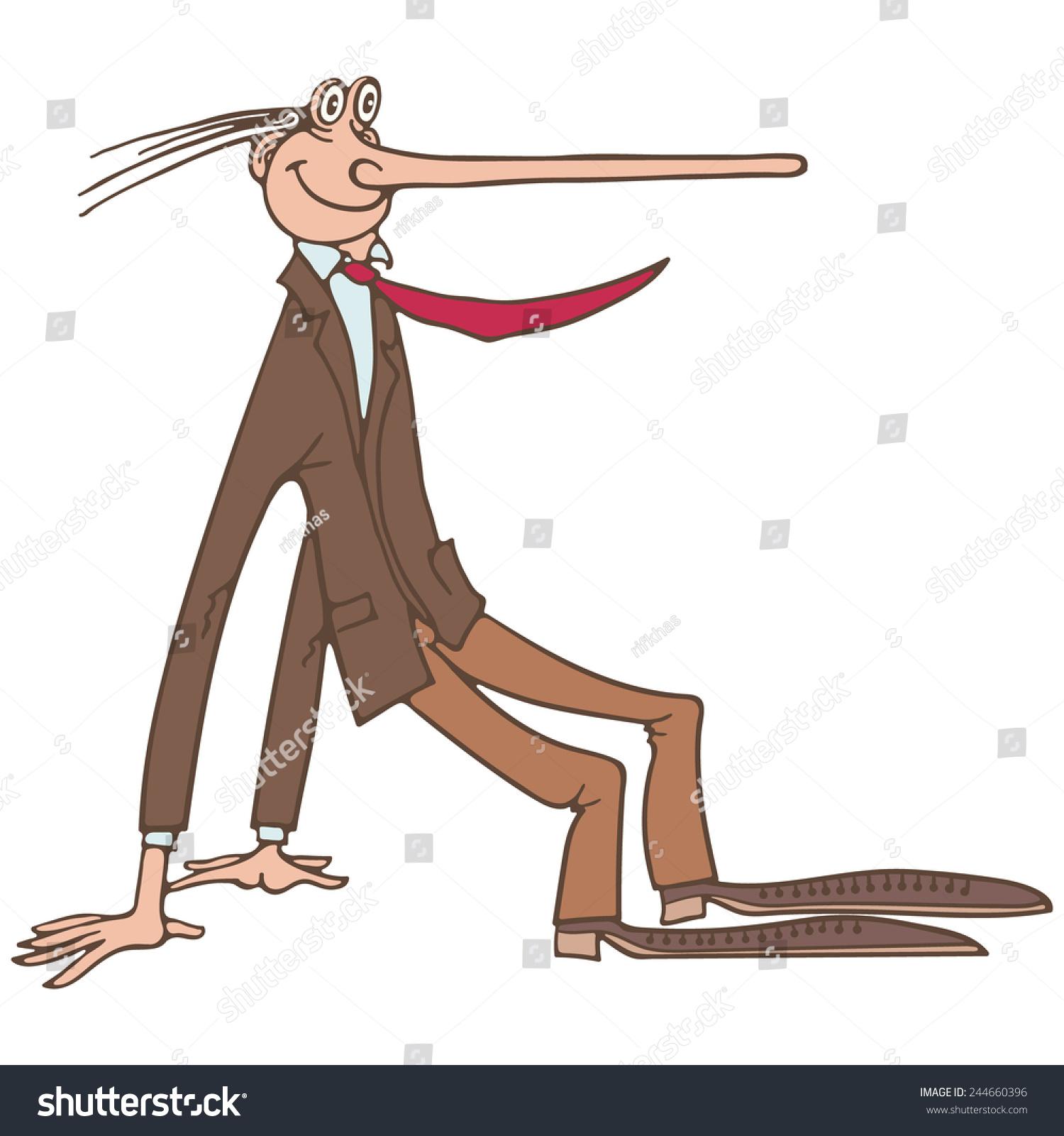 Odd Man Out Cartoon Man Suit Stock Vector HD (Royalty Free ...