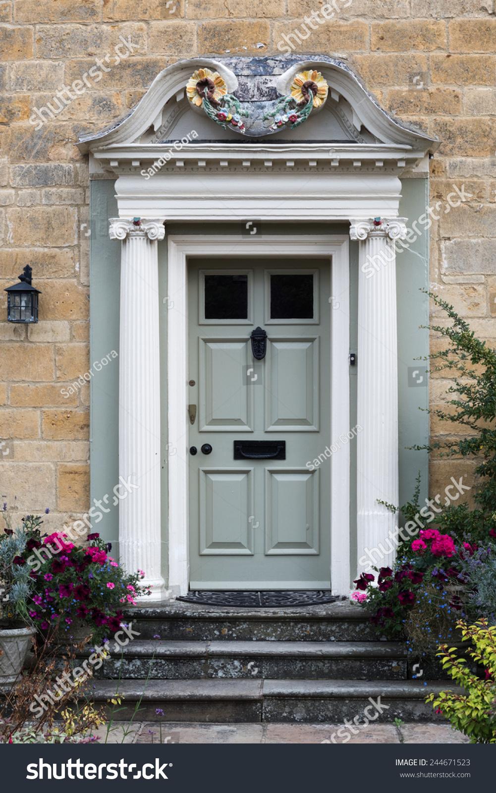Richly Decorated Wooden Front Door Pillars Stock Photo 244671523 & Pictures on Front Door Pillars - Free Home Designs Photos Ideas Pezcame.Com