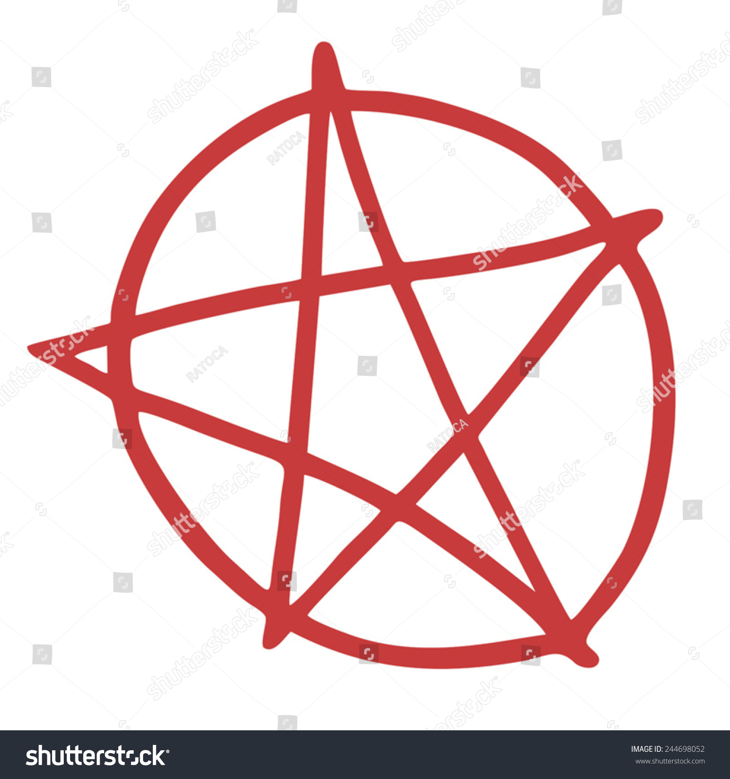 Hell Pentagram Symbol Ez Canvas