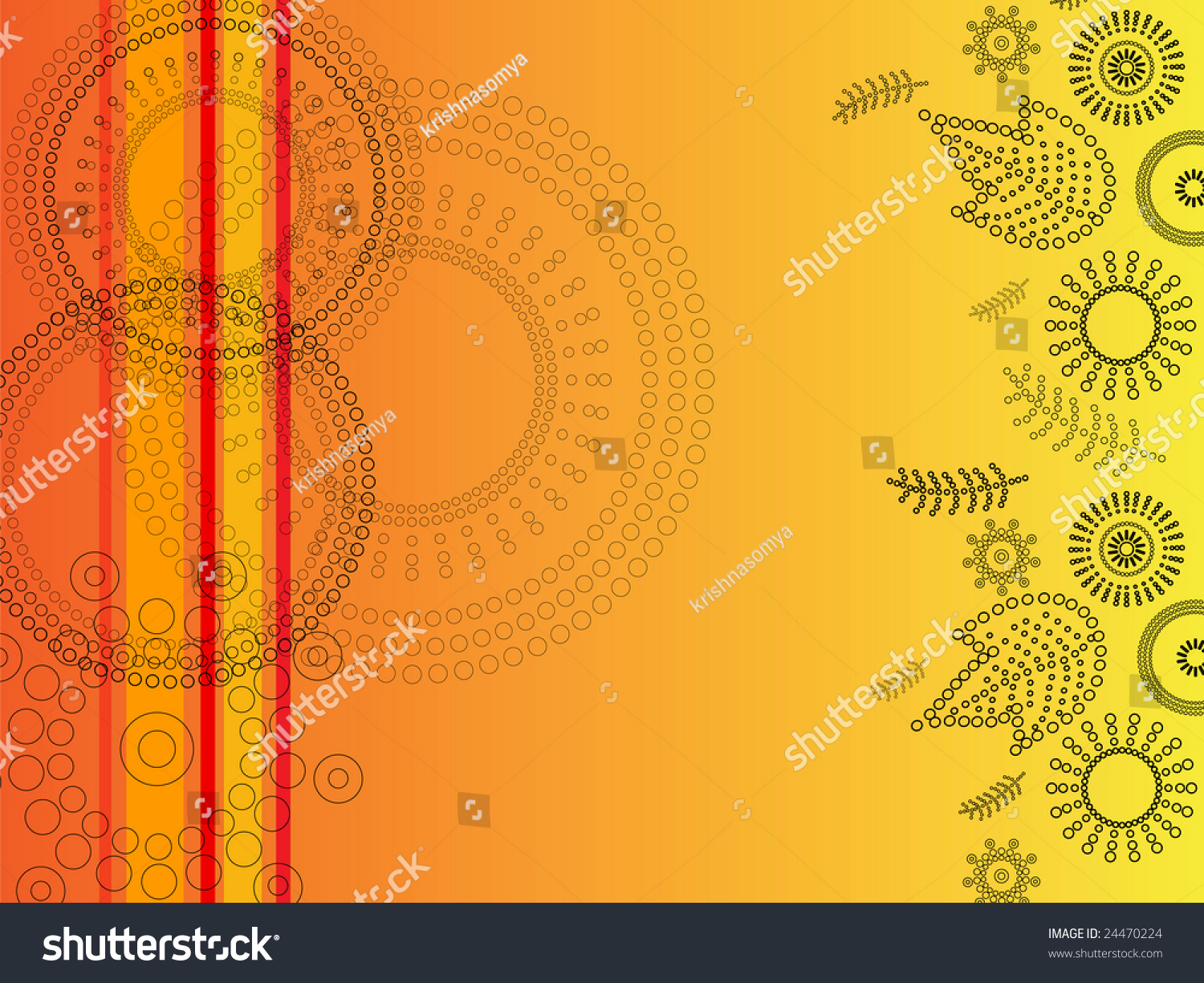Abstract Henna Art Inspired Background Stock Vector Royalty Free