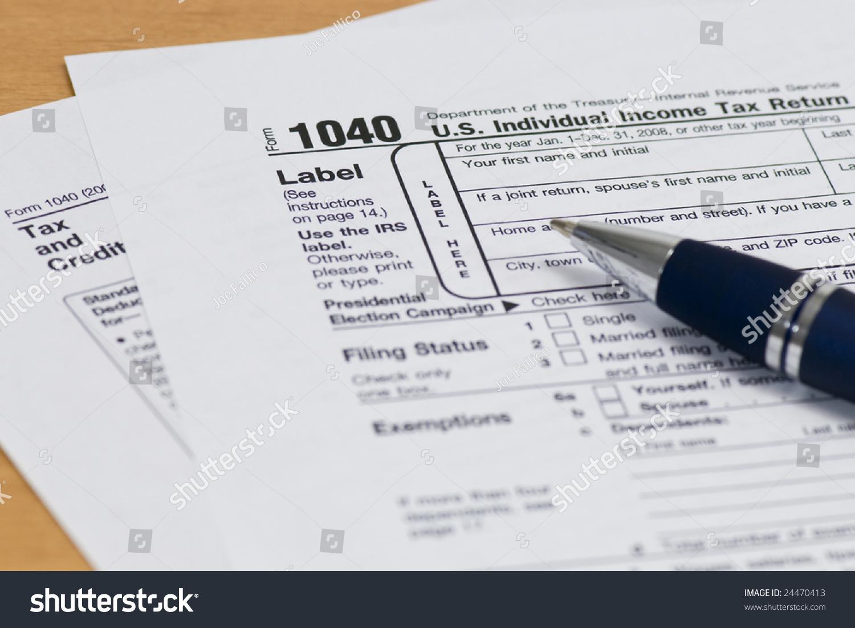 Close 1040 Irs Tax Form Stock Photo Royalty Free 24470413